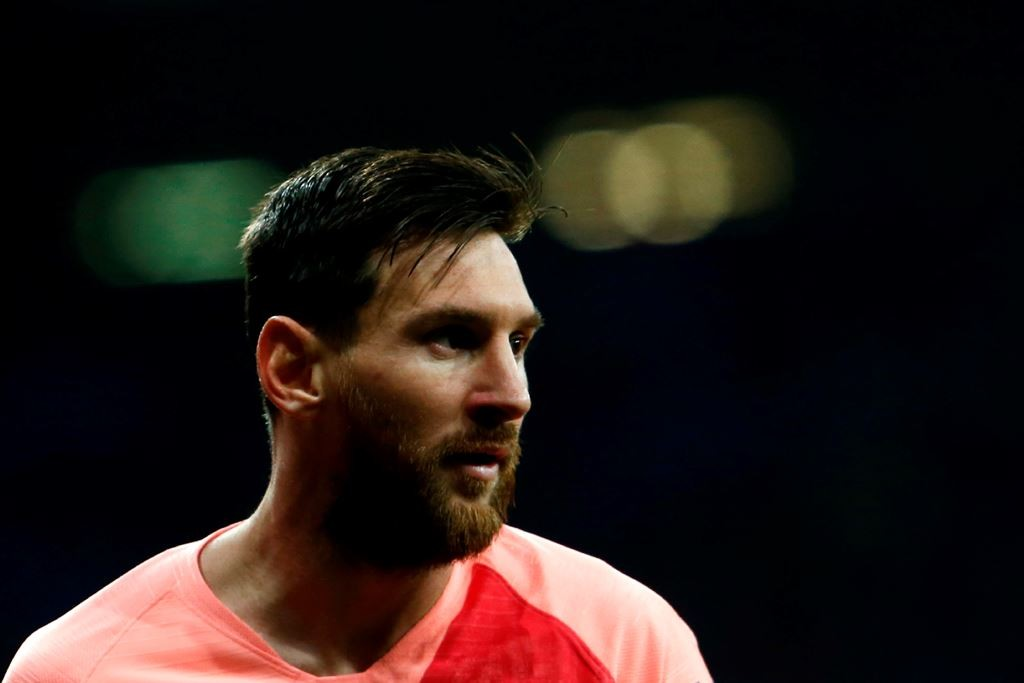 Gelandang serang Bercona, Lionel Messi. (Pau Barrena / AFP))