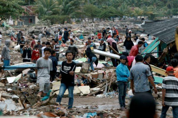 Dampak Tsunami Selat Sunda. Dok:AFP.