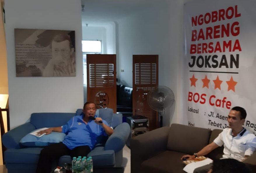 Ketua BPN Prabowo-Sandi, Djoko Santoso dalam diskusi di Jakarta Selatan. Medcom.id/Whisnu Mardiansyah