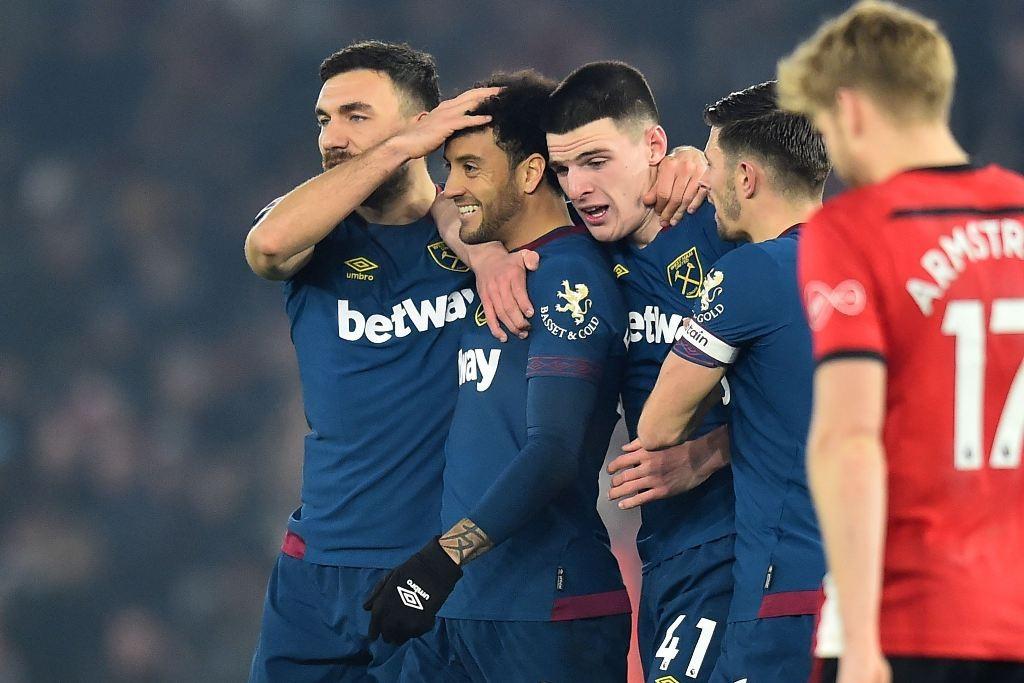 West Ham United menang kontra Southamton (Foto AFP/GLYN KIRK )