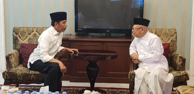 Incumbent President Joko Widodo and his running mate Ma'ruf Amin (Photo:Medcom.id/Achmad Zulfikar Fazli)