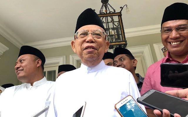 Calon wakil presiden nomor urut 01 Ma'ruf Amin. Foto: Medcom.id/Theofilus Ifan Sucipto.