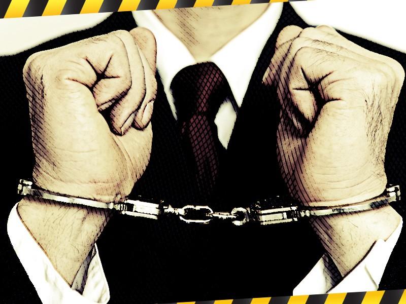 Pejabat ditangkap. Ilustrasi: Medcom.id/Mohammad Rizal.