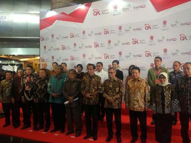 Presiden Joko Widodo di Bursa Efek Indonesia - - Foto: Medcom.id/ Annisa Ayu Artanti