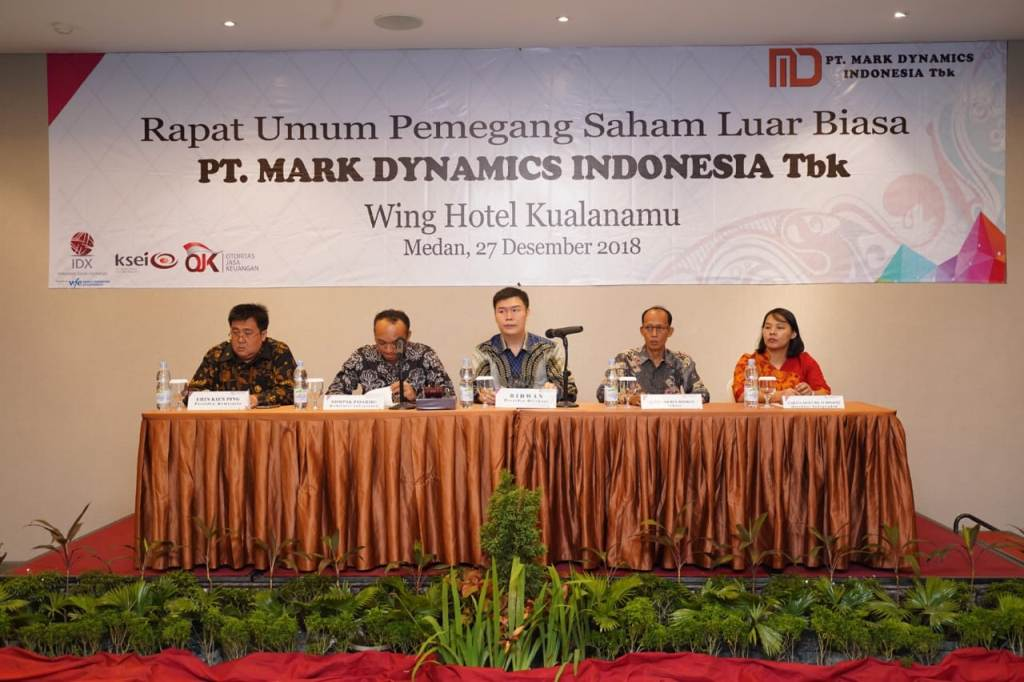 RUPSLB Mark Dynamics Indonesia. (FOTO: dok Mark Dynamics)
