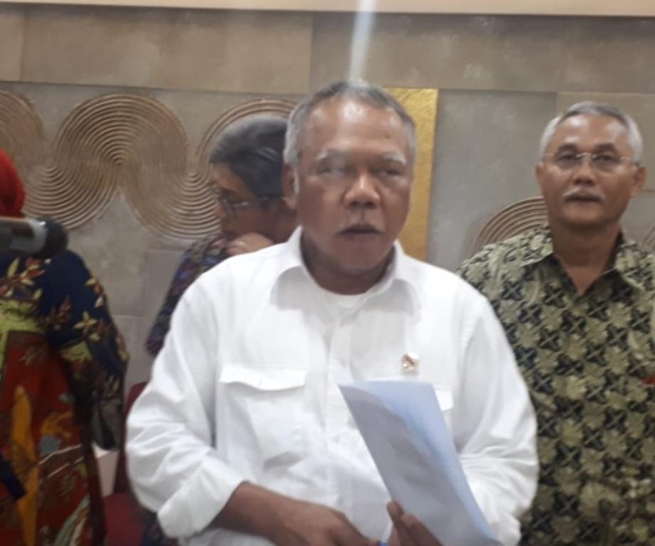 Menteri Pekerjaan Umum dan Perumahan Rakyat (PUPR) Basuki Hadimuljono. (Foto: Medcom.id/Dian)