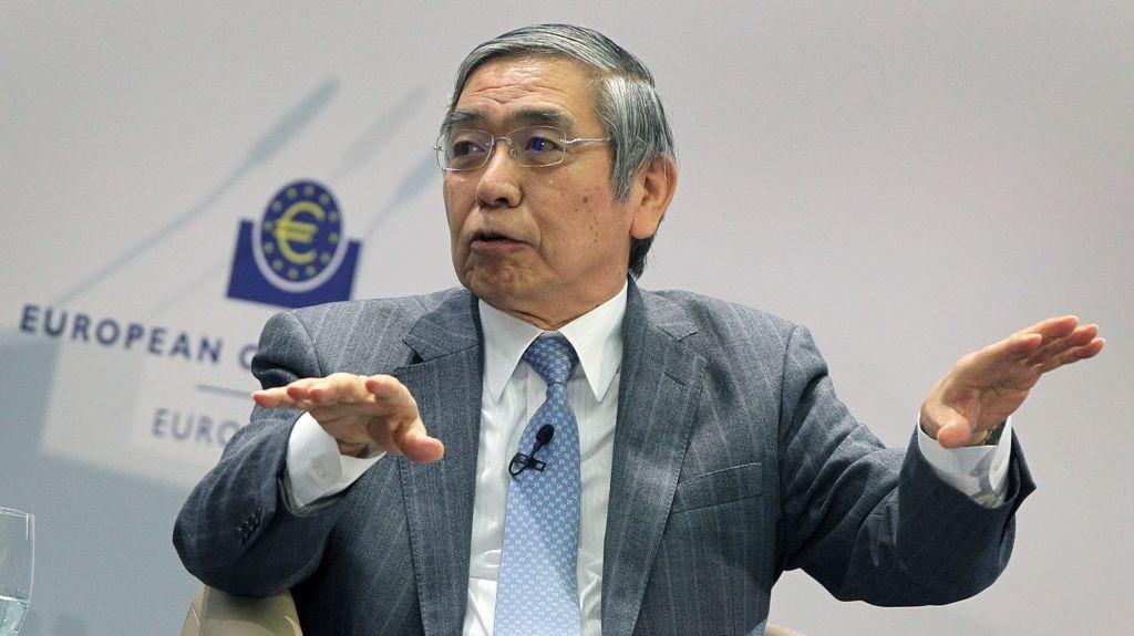 Gubernur Bank of Japan (BoJ) Haruhiko Kuroda (AFP PHOTO/Daniel ROLAND)
