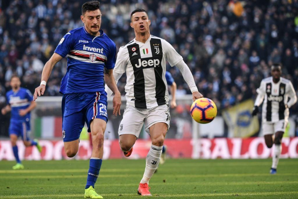 Jalannya pertandingan Juventus vs Sampdoria (AFP/Marco Bertorello)