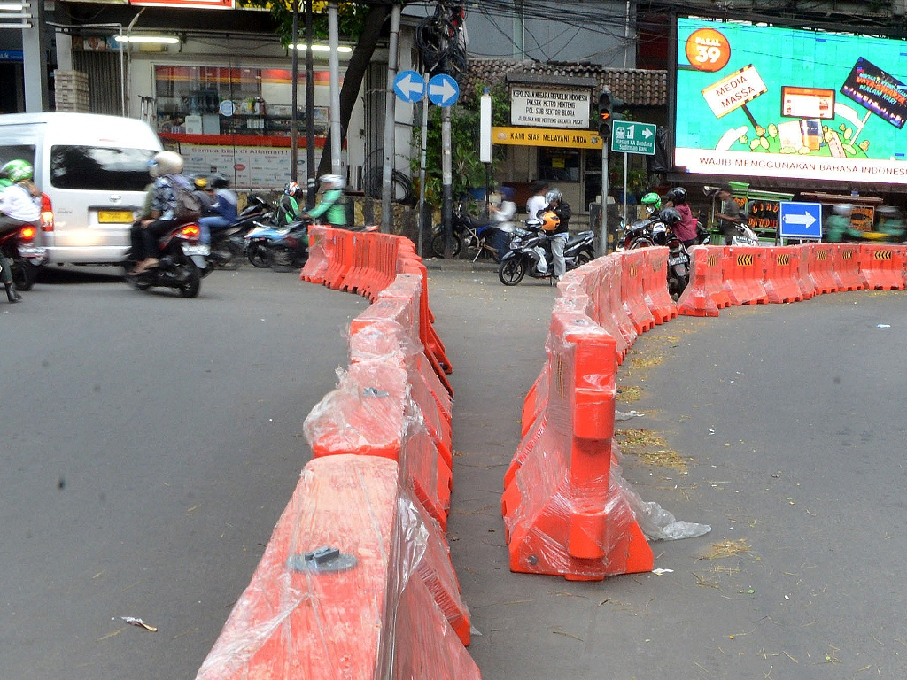 Ilustrasi pengalihan arus lalu lintas. Foto: MI/Susanto.