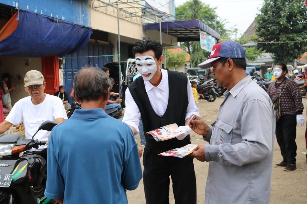 Sosialisasi Pemilu di Pasar Jepara II, Jawa Tengah. Medcom.id/Rhobi Shani