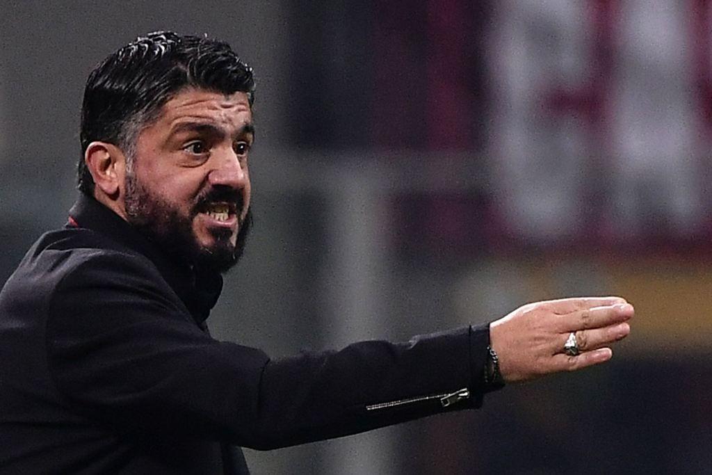 Gennaro Gattuso meminta AC Milan lebih cepat 'membunuh' pertandingan (AFP/Marco Bertorello)