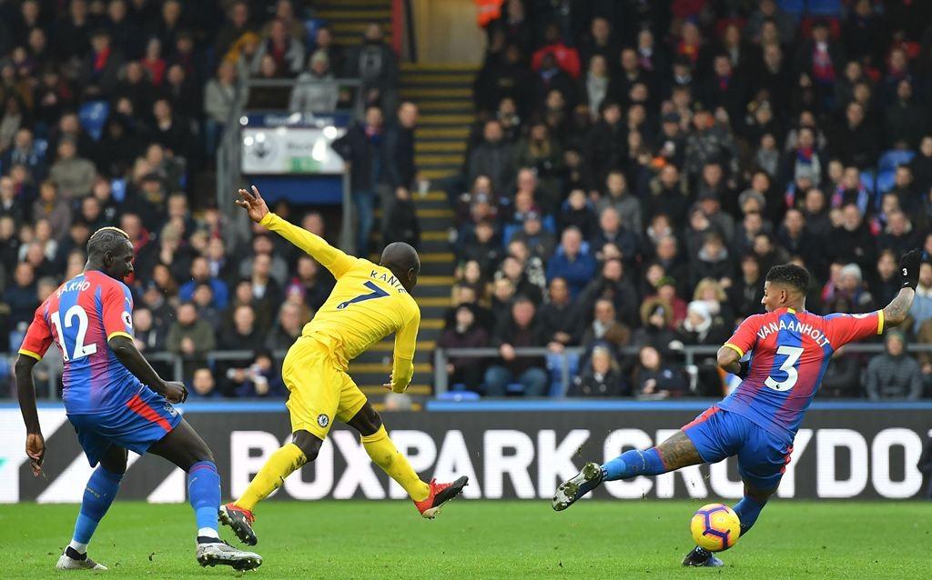 N'Golo Kante mencetak gol tunggal dalam kemenangan Chelsea atas Crystal Palace (AFP/Ben Stansall)