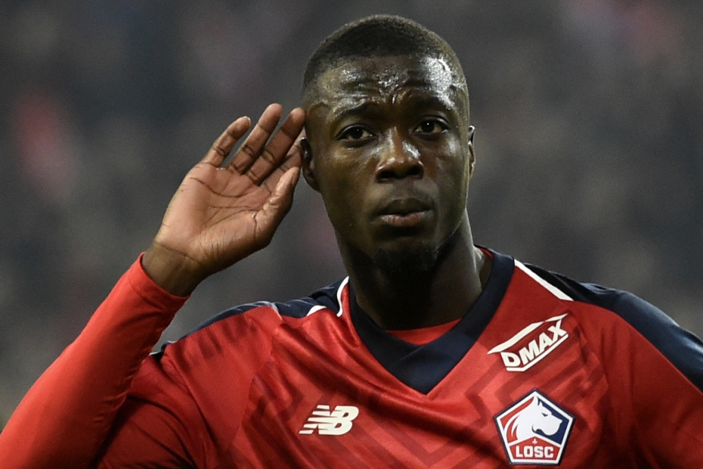 Nicolas Pepe akan bertahan di Lille hingga akhir musim ini (AFP/Francois Lo Presti)