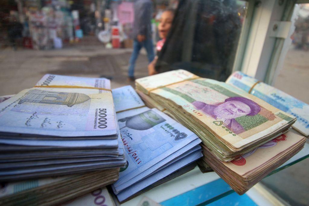 Mata uang Iran, Rial. (FOTO: AFP)