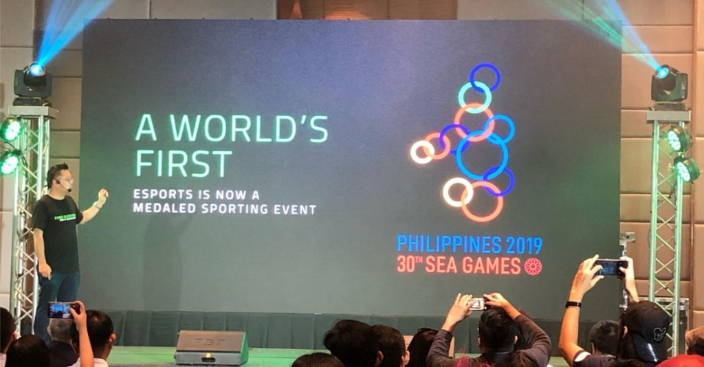 Pengumuman kehadiran esport di SEA Games 2019 oleh Razer sebagai sponsor utama. (Ungeek Filipina)