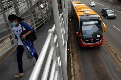 Ilustrasi Transjakarta/MI/Susanto