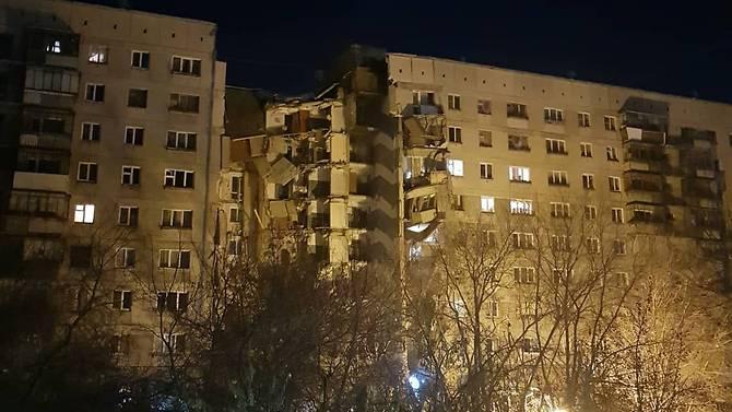 Apartemen yang ambruk di Magnitogorsk, Rusia. (Foto: Instagram/t_nyshk_)