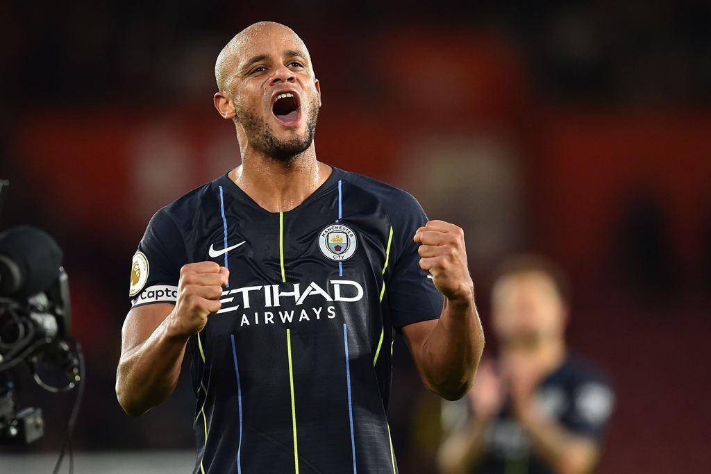 Bek tengah Manchester City, Vincent Kompany. (Glyn KIRK / AFP)