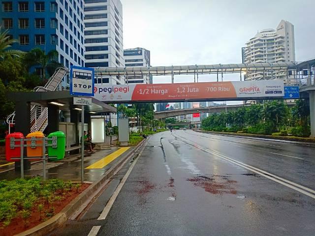 Jalan Sudirman-Thamrin bersih pascaperayaan Tahun Baru 2019/Medcom.id/Hasan