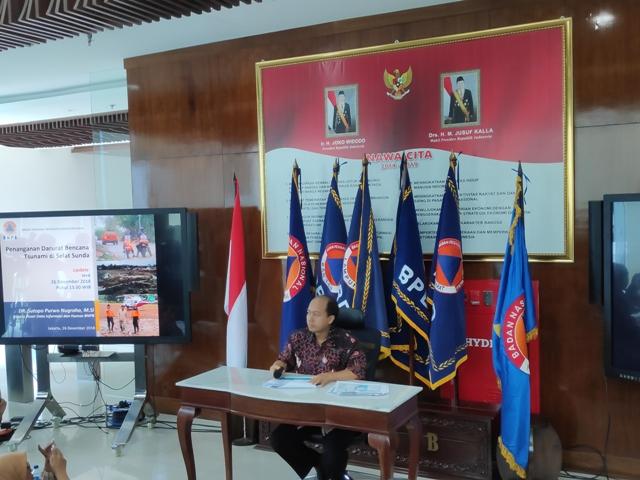 Kapusdatin dan Humas BNPB Sutopo Purwo Nugroho/Medcom.id/Adin