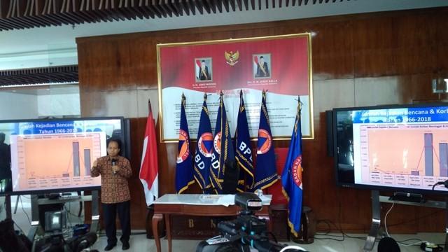 Kapusdatin dan Humas BNPB Sutopo Purwo Nugroho/Medcom.id/Candra Yuli Nuralam