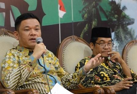 Jubir TKN Ace Hasan Syadzily (kiri pembaca)/MI/Mohamad Irfan
