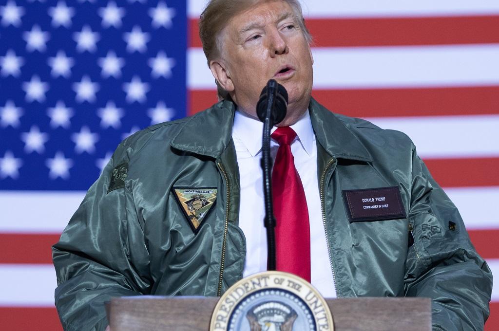 Presiden AS Donald Trump di Irak, 26 Desember 2019. (Foto: AFP/SAUL LOEB)