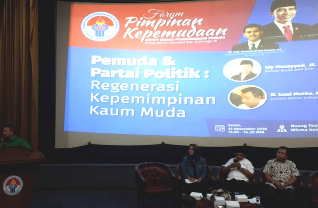Suasana acara Forum Pimpinan Kepemudaan 2018 yang digelar Kemenpora, Senin 31 Desember (Dok. Kemenpora)