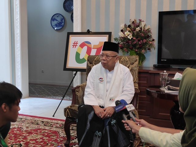 Calon wakil presiden nomor urut 01 Ma'ruf Amin--Medcom.id/M Sholahadhin Azhar.