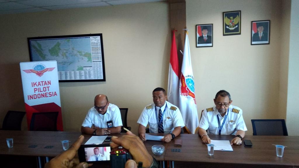 Suasana konferensi pers Ikatan Pilot Indonesia (IPI) - Medcom.id/Candra Yuri Nuralam.