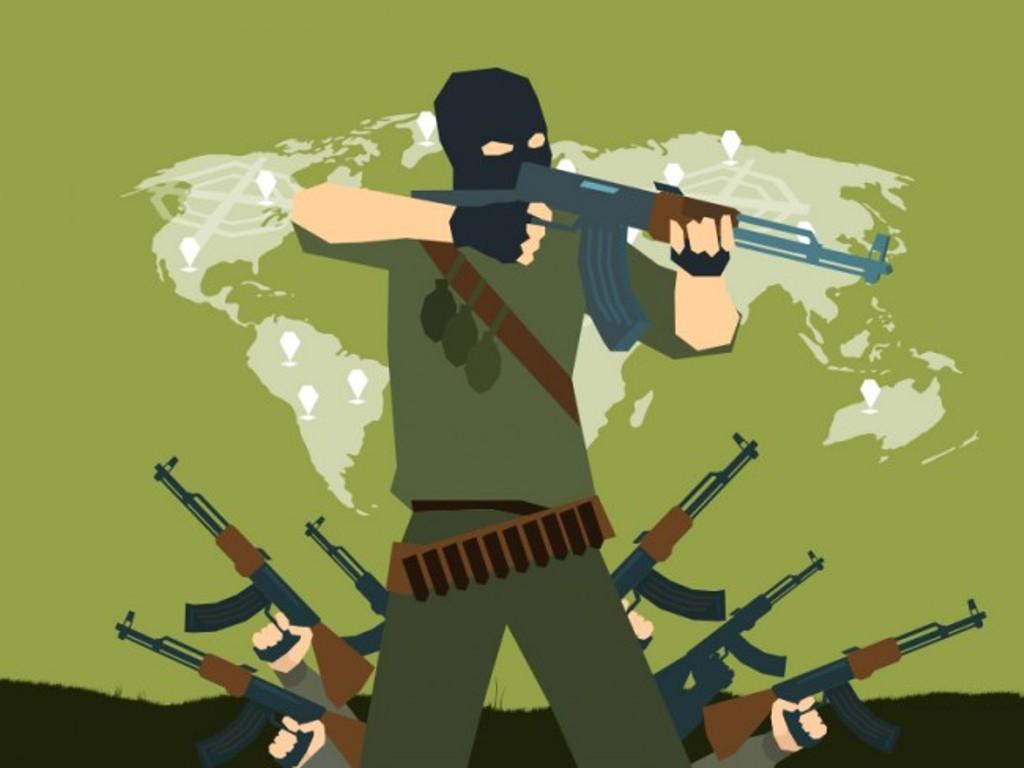 Teroris. Ilustrasi: Medcom.id/Mohammad Rizal.