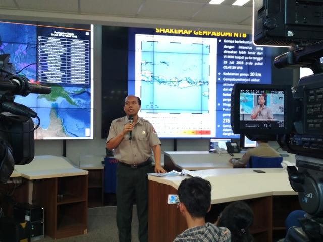 Kepala Pusat Data Informasi dan Humas BNPB Sutopo Purwo Nugroho - Medcom.id/Deny Irwanto.