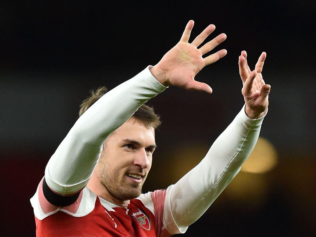 Aaron Ramsey akan bertahan di Arsenal hingga kontraknya habis di akhir musim (AFP/Glyn Kirk)