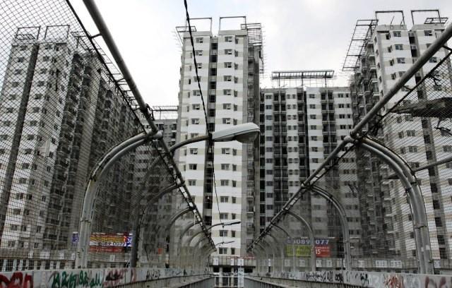 Sebuah proyek apartemen di Jakarta Timur. dok/MI/Galih Pradipta