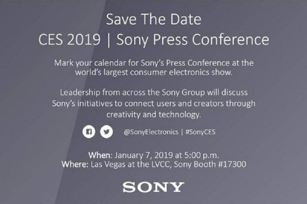Sony mengumumkan penyelenggaraan konferensi pers pada tanggal 7 Januari 2019 mendatang.