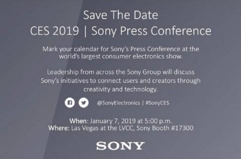 Sony Umumkan Acara di CES 2019