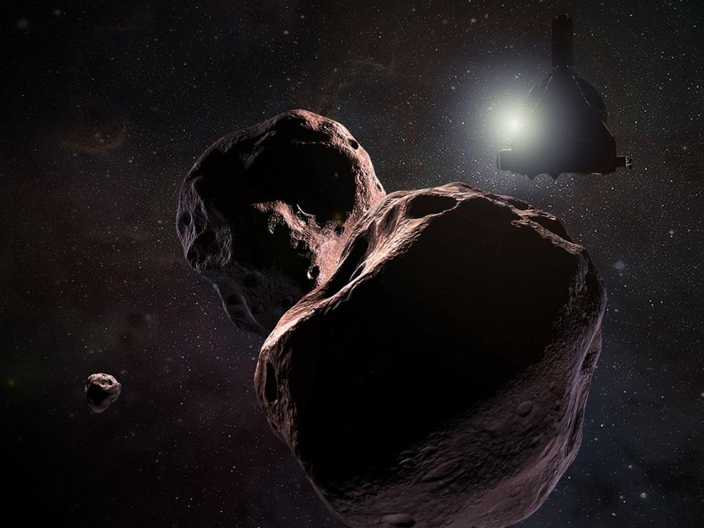 Ilustrasi New Hoirzons mendekati Ultima Thule.  (NASA/JHUAPL/SwRI/Steve Gribben)