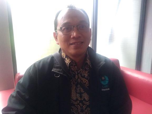 Peneliti Pusat Penelitian Geoteknologi LIPI, Adrin Tohari, Medcom.id/Kautsar Widya Prabowo.