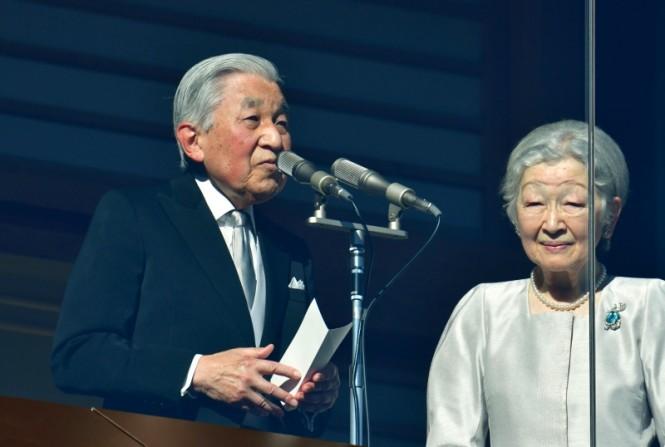 Kaisar Akihito saat pidato perayaan Tahun Baru di hadapan warga Jepang. (Foto: AFP).