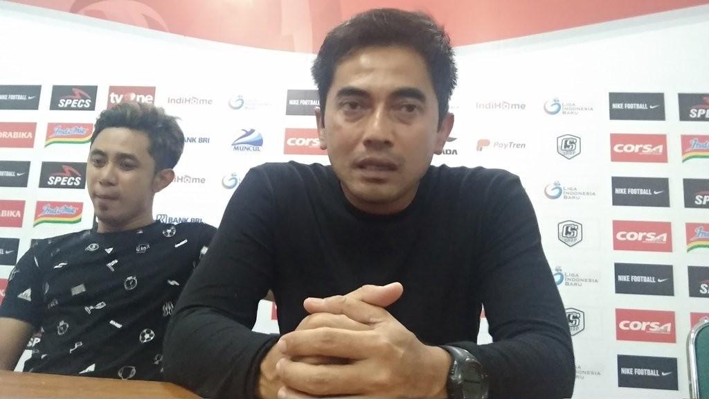 Pelatih PSS Seto Nurdyantoro. (Foto: medcom.id/Ahmad Mustaqim)