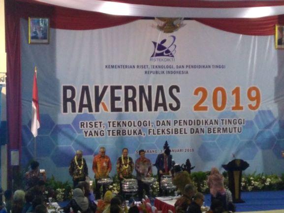 Pembukaan Rakernas 2019, di Universitas Diponegoro, Semarang, Jawa Tengah, Kamis, 3 Desember 2018, Kautsar Widya Prabowo.