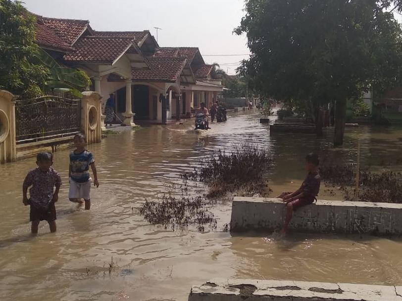 Dampak tanggul Sungai Winong yang jebol di Desa Panguragan Wetan. Istimewa