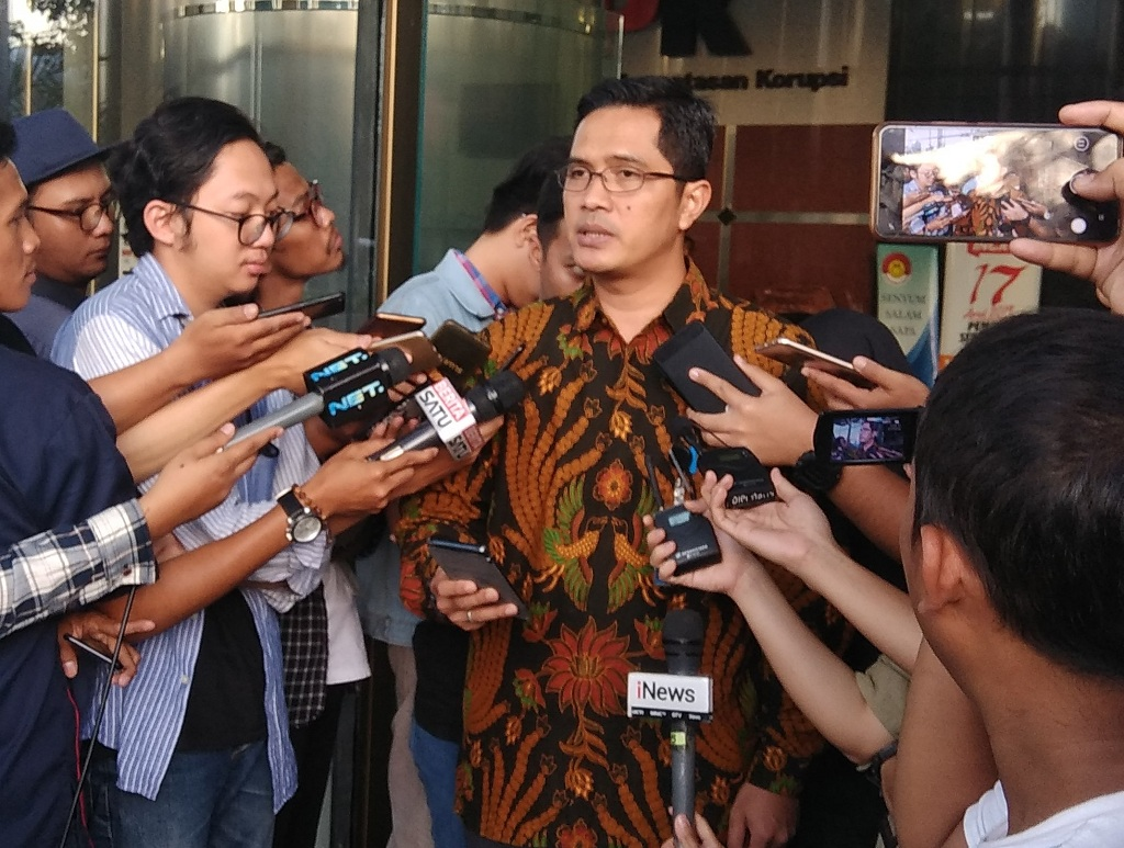 Juru bicara KPK Febri Diansyah di Gedung KPK, Jakarta. Foto: Fachri Audhia Hafiez/Medcom.id