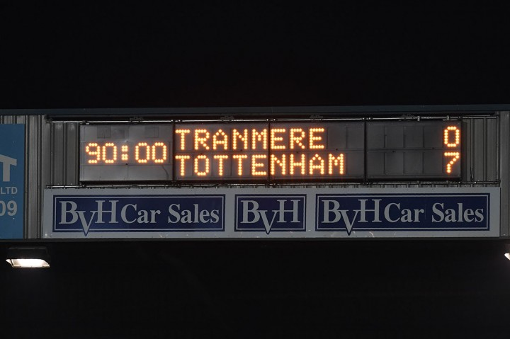 Tottenham Gilas Tranmere Rovers 7-0