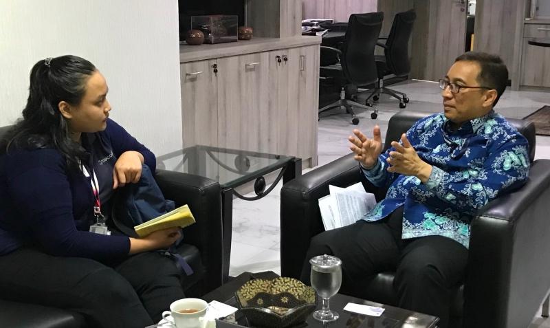 Direktur Jenderal Kerja sama Multilateral Kementerian Luar Negeri Febrian Alphyanto Ruddyard. (Foto: Fajar Nugraha/Medcom.id).