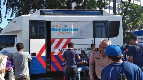 Polda Metro Siagakan Mobil SIM Keliling di CFD