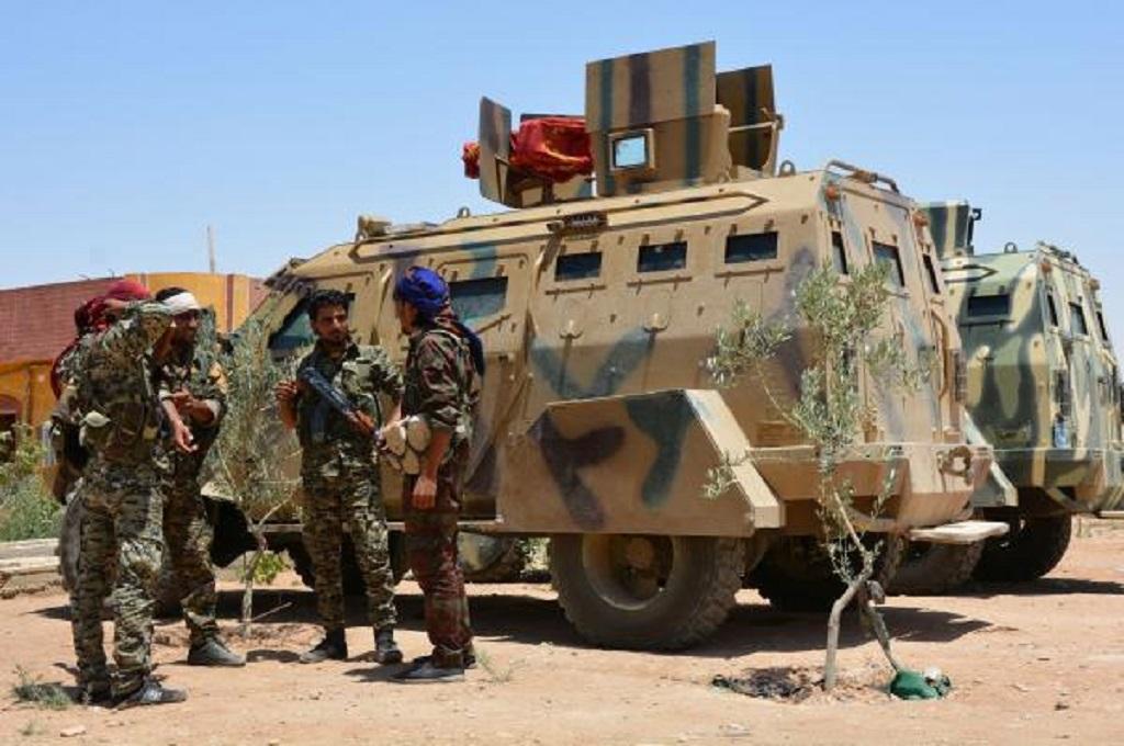 Pasukan SDF di Al Hazeema, Suriah. (Foto: AFP)