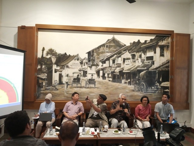 Diskusi mitigasi benca di kawasan Cikini, Minggu (6/1). Foto: Medcom.id/Pudji Lestari