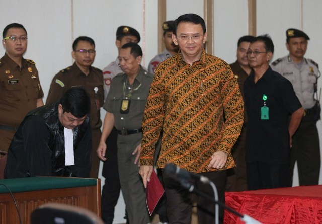 Mantan Gubernur DKI Jakarta Basuki Tjahaja Purnama atau Ahok. Foto: MI/Ramdani