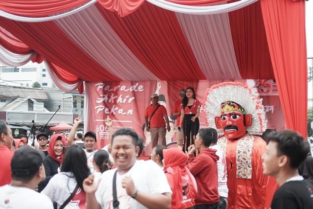 Parade Akhir Pekan PDI Perjuangan di Kemayoran, Jakarta Pusat, Minggu, 6 Januari 2019/Febrian Ahmad
